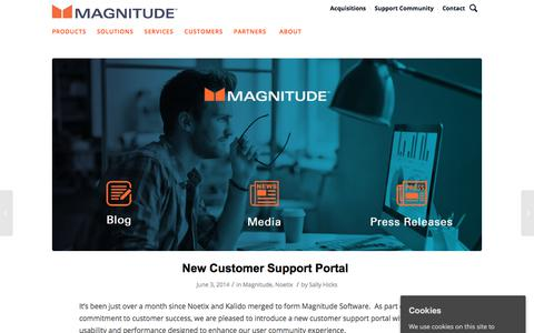 Screenshot of Support Page magnitude.com - New Business Modeling Course for Kalido - captured Oct. 3, 2019