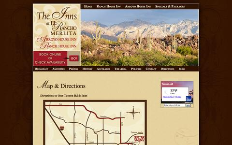 Screenshot of Maps & Directions Page ranchomerlita.com - Map & Directions - captured Oct. 2, 2014