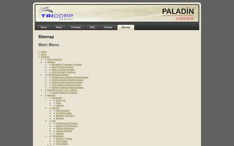 Screenshot of Site Map Page tricorpgaming.com - Sitemap - captured Oct. 1, 2014