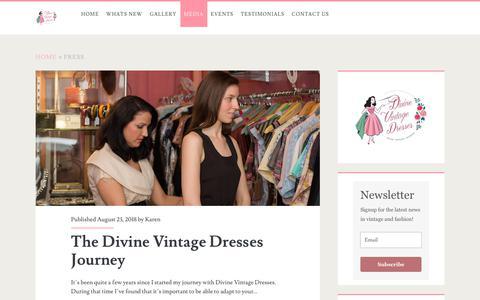 Screenshot of Press Page divinevintagedresses.com - Press Archives - - captured June 14, 2019