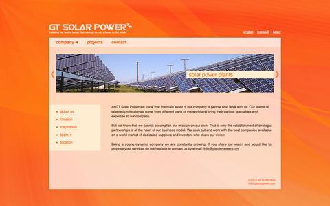 Screenshot of Team Page gtsolarpower.com - GT Solar Power - Our GREAT Team - captured Sept. 27, 2014