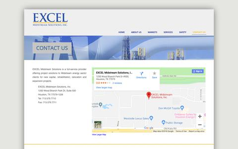 Screenshot of Contact Page excelmidstream.com - EXCEL Midstream Solutions, Inc. | Contact - captured Sept. 26, 2018