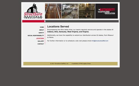 Screenshot of Locations Page structsurescaffold.com - Locations - Structsure Scaffold - captured Nov. 9, 2017