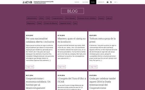 Screenshot of Blog iacta.coop - Blog IACTA | Cooperativa d'assessorament jurídic i transformació social - captured Feb. 3, 2016
