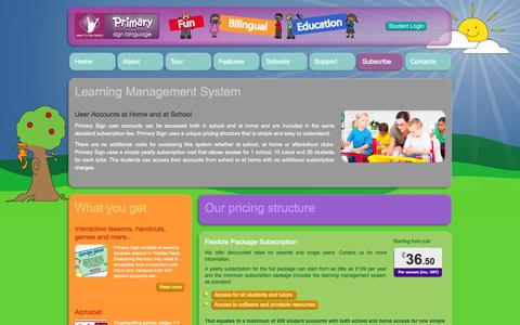 Screenshot of Pricing Page primarysign.com - Welcome to Seen to be heard - Primary Sign - captured Oct. 4, 2014