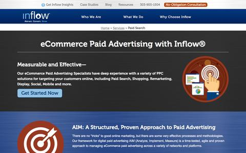 Screenshot of goinflow.com - Paid Advertising and PPC Marketing Services from the Experts at Inflow - captured March 20, 2016