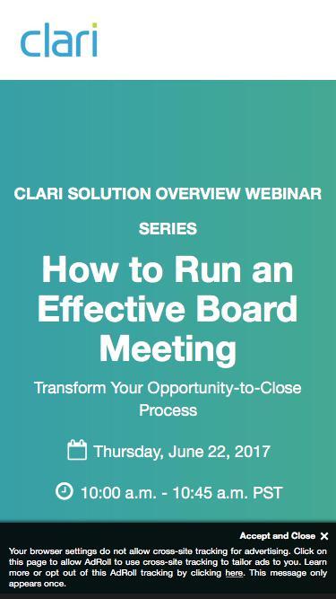 Webinar: How to Run an Effective Board Meeting