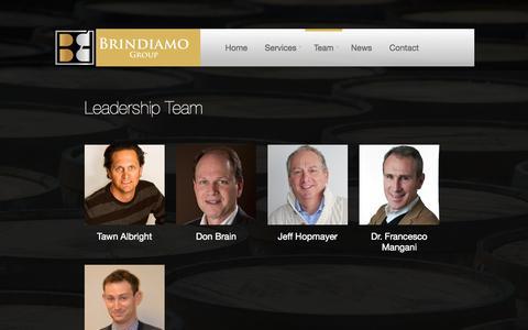 Screenshot of Team Page brindiamogroup.com - Team | Brindiamo Group - captured Sept. 30, 2014