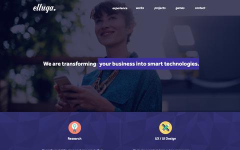 Screenshot of Home Page Contact Page elluga.com - Elluga Digital || Mobile Technologies || Web Technologies - captured Dec. 14, 2018