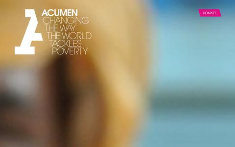 Screenshot of Home Page acumen.org - Acumen is a Bold New Way of Tackling Poverty - captured Jan. 27, 2016