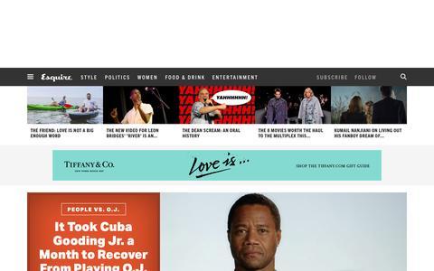 Screenshot of Home Page esquire.com - Esquire - Men's Fashion, Cocktails, Politics, Interviews, and Women - captured Feb. 3, 2016