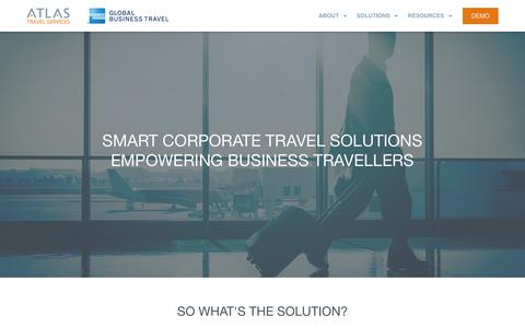 Screenshot of Services Page atlas.ie - Smart solutions - Atlas Travel - captured Nov. 13, 2018