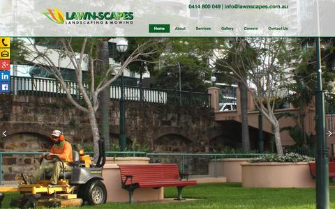 Screenshot of Home Page lawnscapes.com.au - Lawn-Scapes-Queensland-Australia - captured Jan. 26, 2016