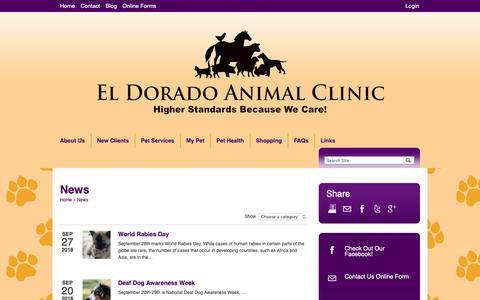 Screenshot of Press Page eacwecare.com - News   Veterinarians El Dorado Kansas   El Dorado Animal Clinic - captured Sept. 27, 2018