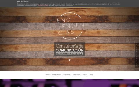 Screenshot of Home Page enotendencias.es - Enotendencias | Consultoría de Comunicación especializada en el sector del vino - captured Dec. 10, 2015