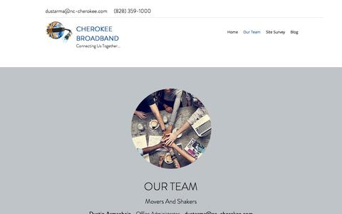 Screenshot of Team Page cherokeebroadband.com - Our Team - captured July 17, 2018