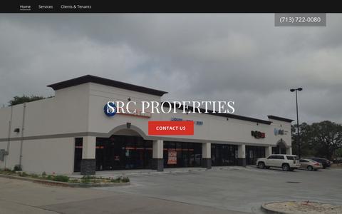 Screenshot of Home Page src-properties.com - SRC PROPERTIES - captured July 26, 2018