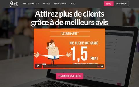 Screenshot of Home Page guest-suite.com - Guest Suite - Simplifiez vous l'avis ! | Guest Suite - captured Nov. 2, 2018