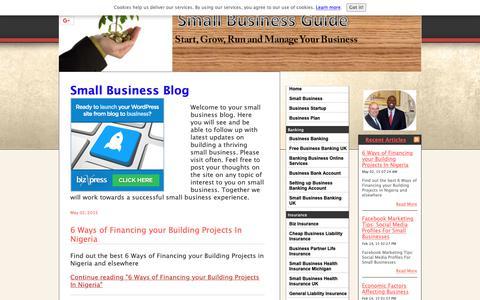 Screenshot of Blog small-business-guide.com - Small Business Blog - captured Oct. 19, 2018