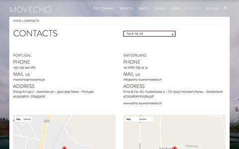 Screenshot of Jobs Page movecho.pt - Contacts – Movecho - captured May 26, 2017