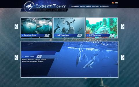 Screenshot of Home Page expert-tours.com - Expert Tours » Home - Tauch Expeditionen & Marine Logistics - captured March 4, 2016