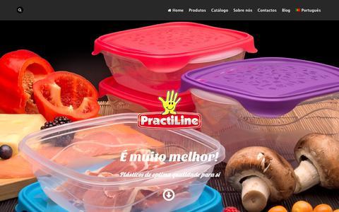 Screenshot of Home Page practiline.pt - Practiline - Fabricantes de produtos plásticos para o lar e a indústria - captured Sept. 29, 2018