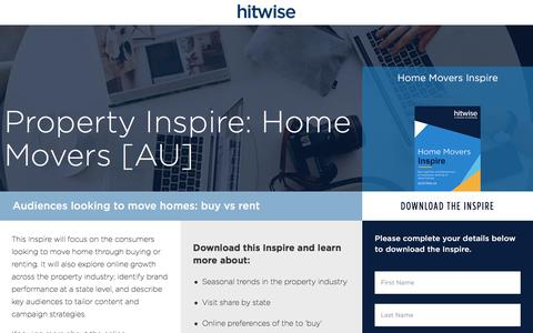 Screenshot of Landing Page connexity.com - Hitwise | Property Inspire Home Movers - captured Sept. 19, 2018