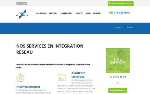 Screenshot of Services Page interdata.fr - Services | Interdata - captured May 27, 2017