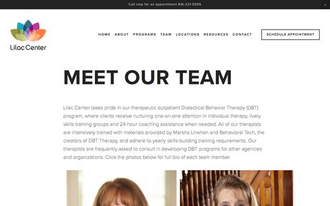 Screenshot of Team Page lilaccenter.org - Meet Our Team — Lilac Center - captured July 19, 2018