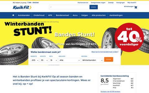 Screenshot of kwik-fit.nl - Banden STUNT bij KwikFit - captured Jan. 16, 2017