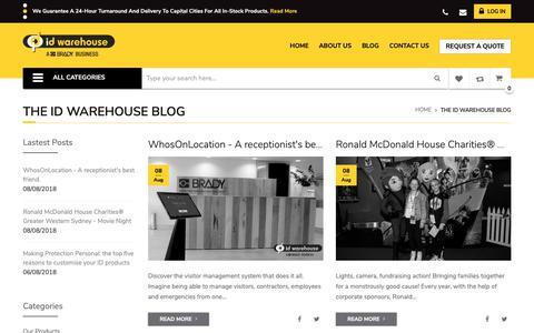 Screenshot of Blog idwarehouse.com.au - The ID Warehouse Blog - captured Nov. 4, 2018