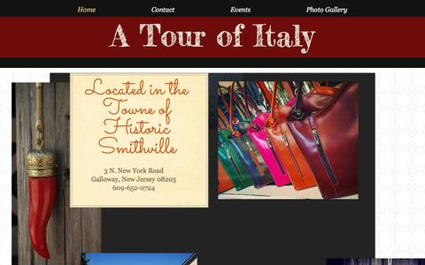 Screenshot of Home Page atourofitaly.com - A Tour of Italy Gifts Smithville | USA, New Jersey | A Tour of Italy - captured July 21, 2018