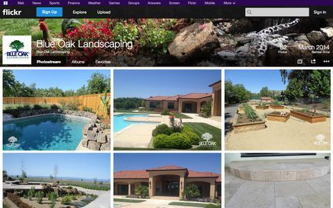 Screenshot of Flickr Page flickr.com - Flickr: Blue Oak Landscaping's Photostream - captured Oct. 25, 2014