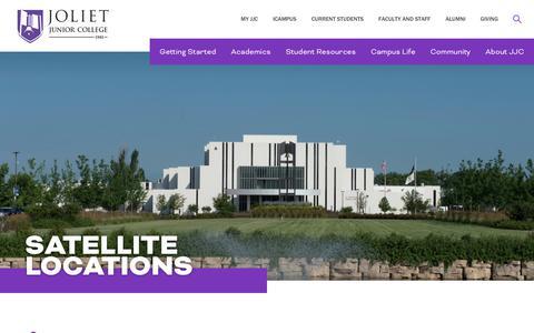 Screenshot of Locations Page jjc.edu - Locations | Joliet Junior College - captured Oct. 14, 2018