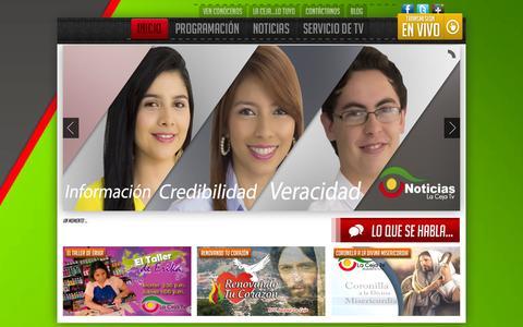 Screenshot of Home Page lacejatv.net - La Ceja TV - captured Oct. 1, 2014