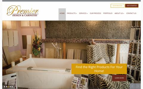 Screenshot of Home Page premierdesigncabinets.com - Best Cabinet Company   Premier Design - captured Jan. 31, 2016