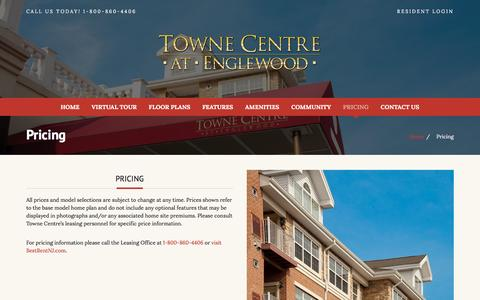 Screenshot of Pricing Page tcatenglewood.com - Pricing - Towne Centre at Englewood - captured Feb. 6, 2016