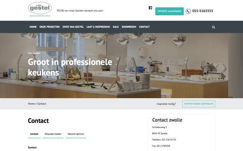 Screenshot of Contact Page vangestelhoreca.nl - Contact - Van Gestel - captured Aug. 12, 2016
