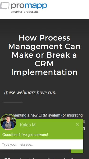 Webinar: How Process Management Can Make or Break a CRM Implementation