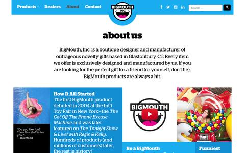 Screenshot of About Page bigmouthinc.com - about us - BIGMOUTH INC - captured July 29, 2016