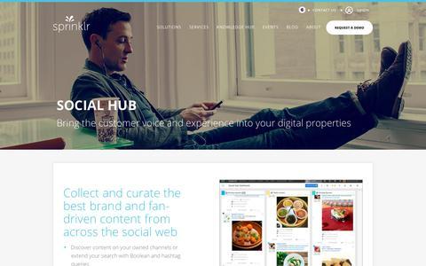 Social Hub: Content Curation with Sprinklr's Social Hub