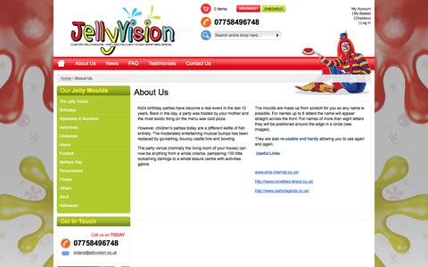Screenshot of About Page jellyvision.co.uk - About Us - captured June 8, 2017