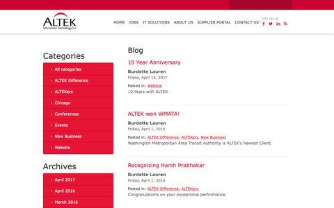 Screenshot of Blog al-tekinc.com - Blog – ALTEK Information Technology - captured Oct. 2, 2018