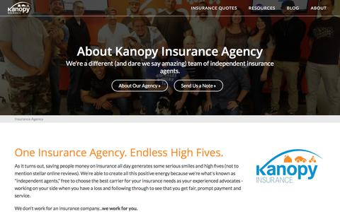 Screenshot of About Page kanopyinsurance.com - Insurance Agency | Kanopy Insurance - captured June 9, 2017