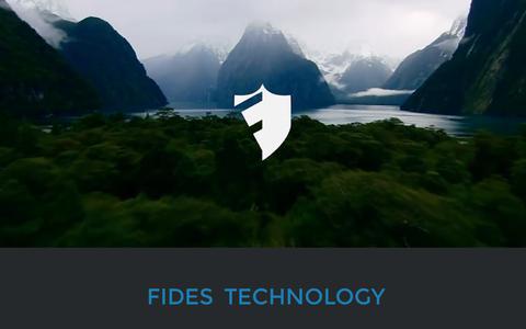 Screenshot of Home Page fides-technologies.com - Fides E Technology - captured Oct. 13, 2017