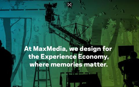 Screenshot of About Page maxmedia.com - About Us | MaxMedia | Experience Design - captured Sept. 20, 2018