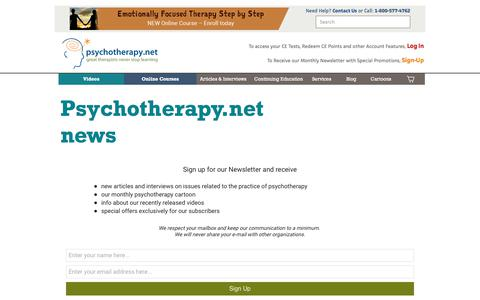 Screenshot of Signup Page psychotherapy.net - Psychotherapy.net news - captured Sept. 6, 2017