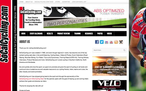 Screenshot of About Page socalcycling.com - SoCalCycling.com About Us - SoCalCycling.com - captured Sept. 19, 2014