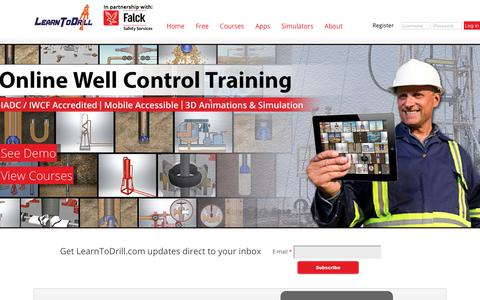Screenshot of Home Page learntodrill.com - LearnToDrill.com | Well Control Training for the Future - captured July 17, 2018