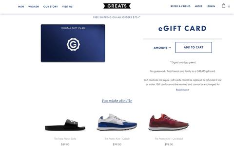 The GREATS Gift Card | Greats